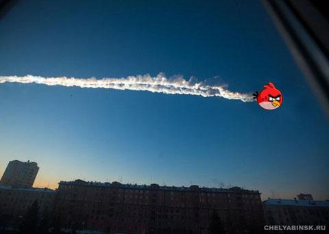 Метеорит над Челябінськом. Фотожаба