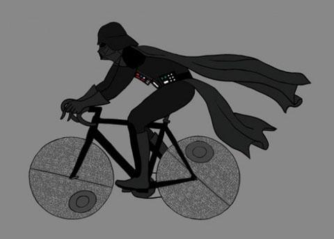 Дарт Вейдер на велосипеді