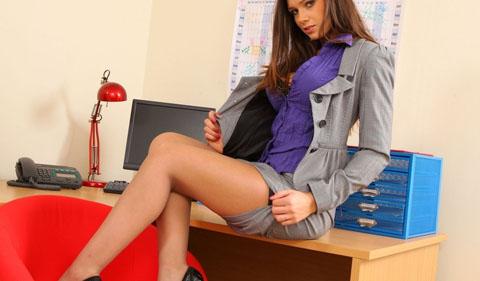 фото секретаршей в колготках