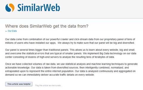 Similarweb: Where does SimilarWeb get the data from?